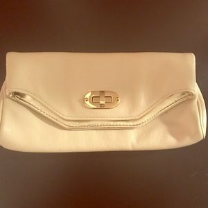 Aldo tan beige and gold clutch great condition